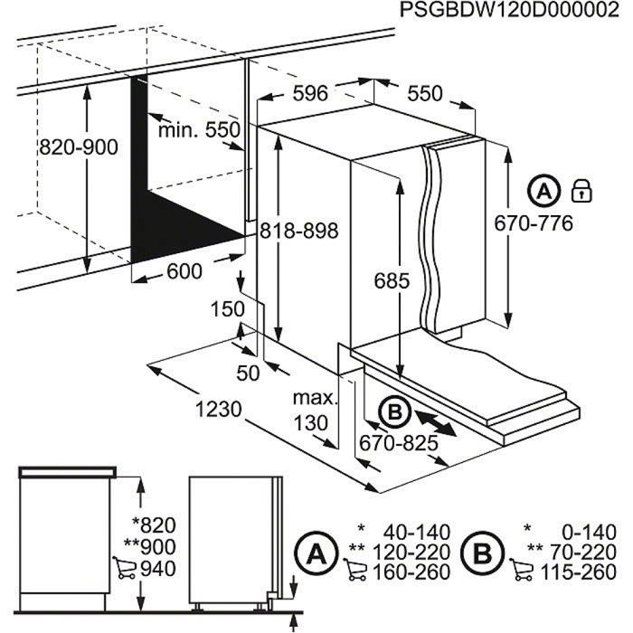 Spiksplinternieuw AEG FSS62800P inbouw vaatwasser - De Schouw Witgoed EZ-83