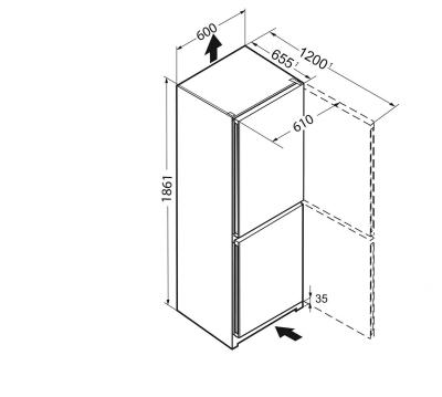 Maattekening LIEBHERR koelkast wit CN4213-23