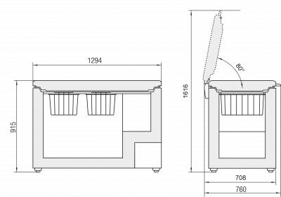 Maattekening LIEBHERR vrieskist GT4232-21