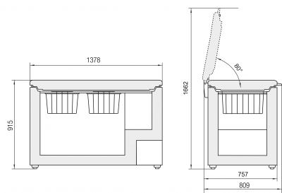 Maattekening LIEBHERR vrieskist GT4932-21