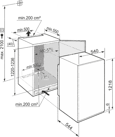 liebherr iks2314 inbouw koelkast de schouw witgoed. Black Bedroom Furniture Sets. Home Design Ideas