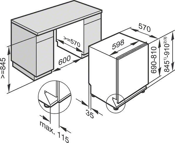 miele g6665 scvi xxl inbouw vaatwasser de schouw witgoed. Black Bedroom Furniture Sets. Home Design Ideas