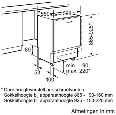 siemens sx636x08ie inbouw vaatwasser de schouw witgoed. Black Bedroom Furniture Sets. Home Design Ideas